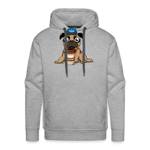 Coffee pug - Men's Premium Hoodie