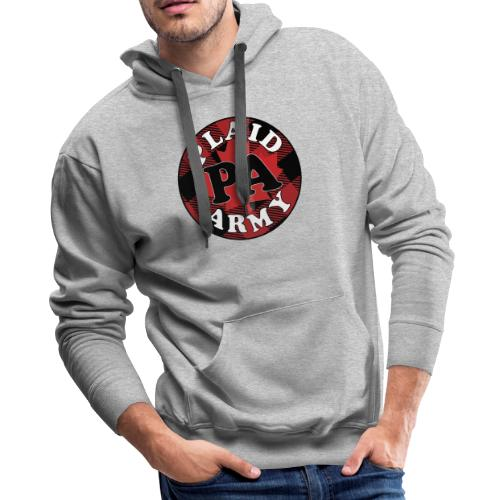 plaid army round - Men's Premium Hoodie