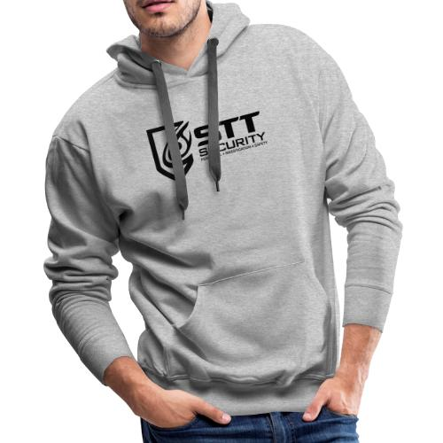 STT Security Logo Black - Men's Premium Hoodie