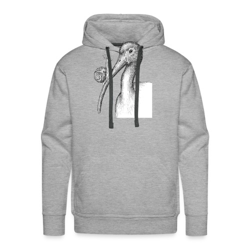 Ibis with Snail by Imoya Design - Men's Premium Hoodie