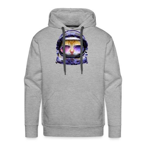 Kitty in Space Blue Camo - Men's Premium Hoodie