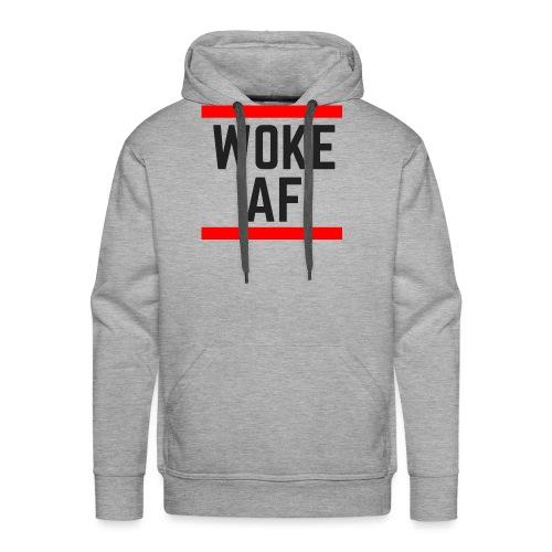 Woke AF black - Men's Premium Hoodie