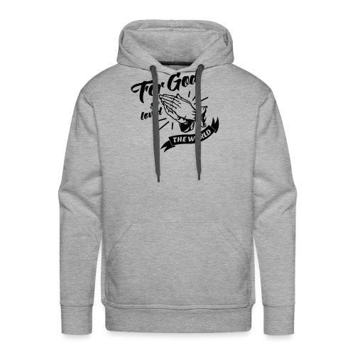 For God So Loved The World… - Alt. Design (Black) - Men's Premium Hoodie