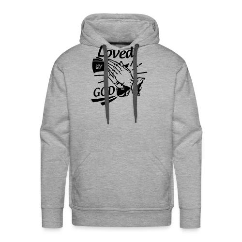 Loved By God (Black Letters) - Men's Premium Hoodie