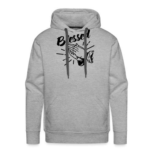 Blessed (Black Letters) - Men's Premium Hoodie