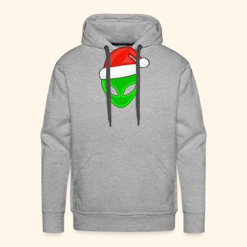 Santa Hat Alien - Men's Premium Hoodie