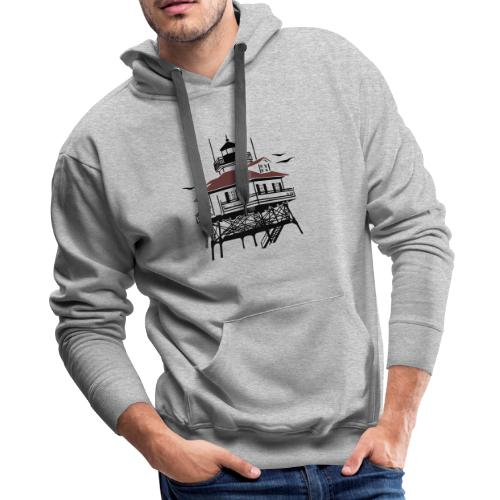 Lighthouse Drawing Illustration - Men's Premium Hoodie
