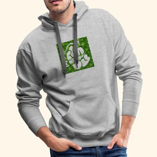 Hand with a joint - smoking weed 420 lifestyle - Men's Premium Hoodie