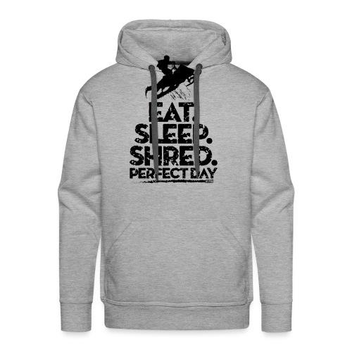 Snowmobile Eat Sleep - Men's Premium Hoodie