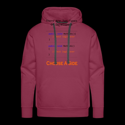 Code Styling Preference Shirt - Men's Premium Hoodie