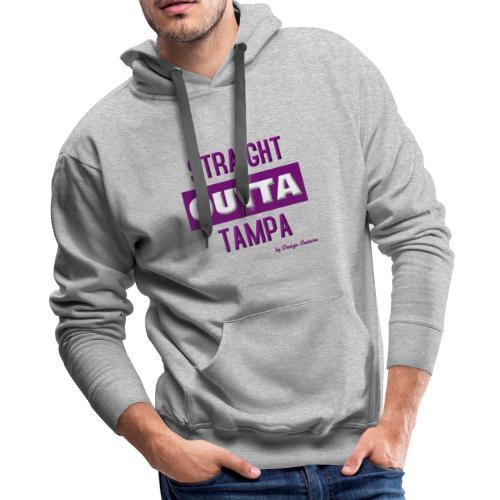 STRAIGHT OUTTA TAMPA PURPLE - Men's Premium Hoodie