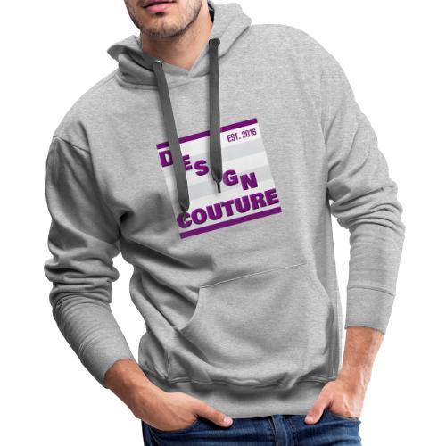 DESIGN COUTURE EST 2016 PURPLE - Men's Premium Hoodie