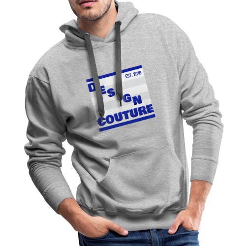 DESIGN COUTURE EST 2016 BLUE - Men's Premium Hoodie