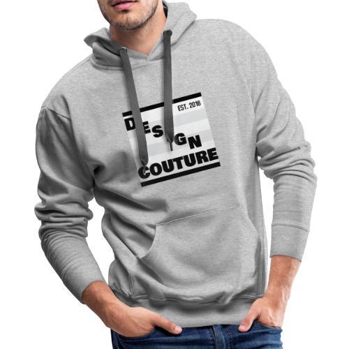 DESIGN COUTURE EST 2016 BLACK - Men's Premium Hoodie