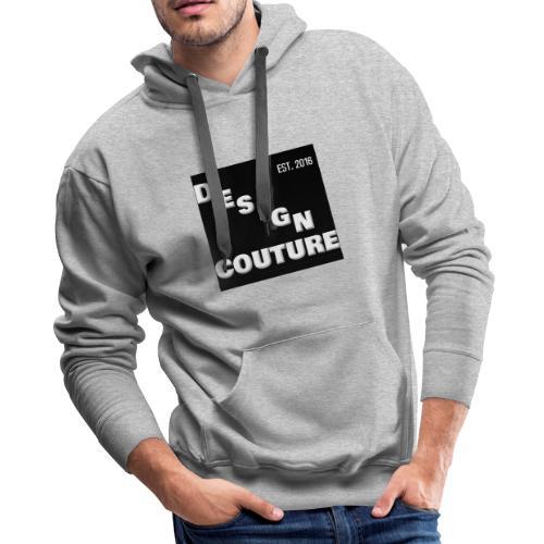 DESIGN COUTURE EST 2016 WHITE - Men's Premium Hoodie