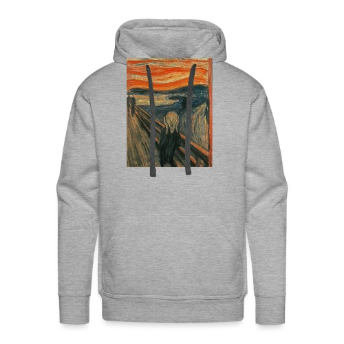 The Scream (Textured) by Edvard Munch - Men's Premium Hoodie