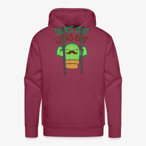 Sun's Out Guns Out Macho Cactus - Men's Premium Hoodie