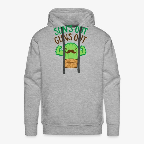 Sun's Out Guns Out Macho Cactus - Men's Premium Hoodie