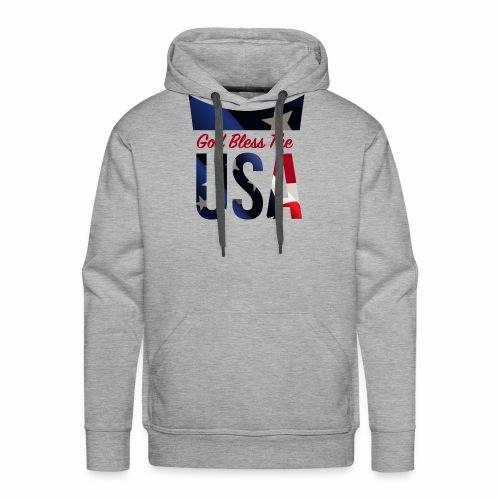 God Bless The USA Veterans T-Shirts - Men's Premium Hoodie