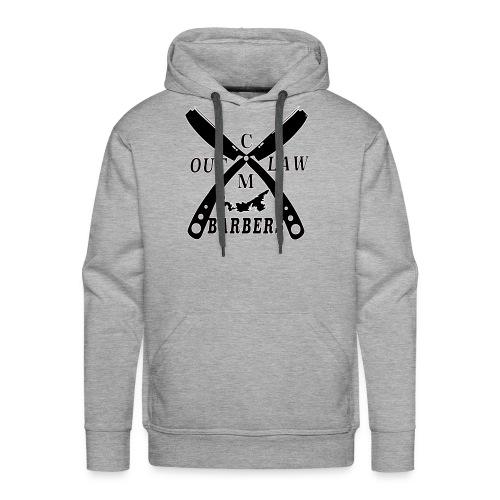 Outlaw Barbers Black Logo - Men's Premium Hoodie