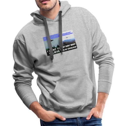 tshirt i want to believe - Men's Premium Hoodie