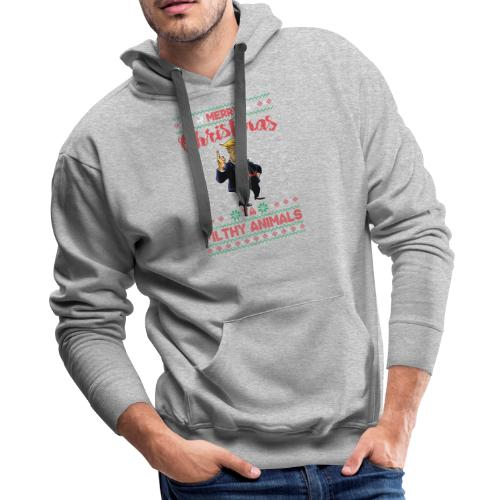 MEERRY CHRISTMAS YA FILTHY ANIMALS - Men's Premium Hoodie
