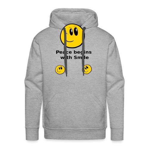Peace begins with Smile - Men's Premium Hoodie