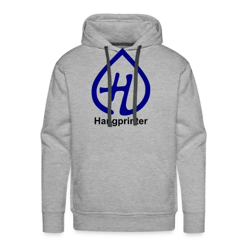 Hangprinter Logo and Text - Men's Premium Hoodie
