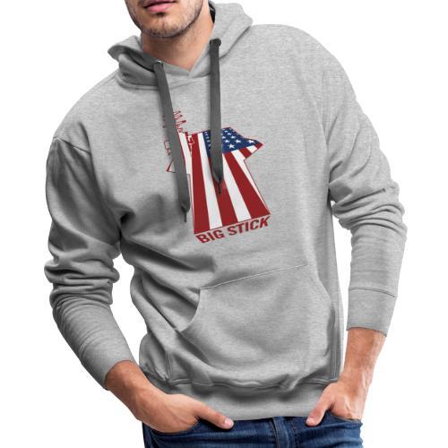 Big Stick Patriotic U.S. Aircraft Carrier - Men's Premium Hoodie