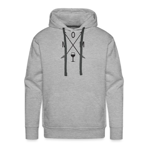 Mom Loves Wine (black ink) - Men's Premium Hoodie