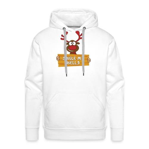 Red Christmas Horny Reindeer 1 - Men's Premium Hoodie