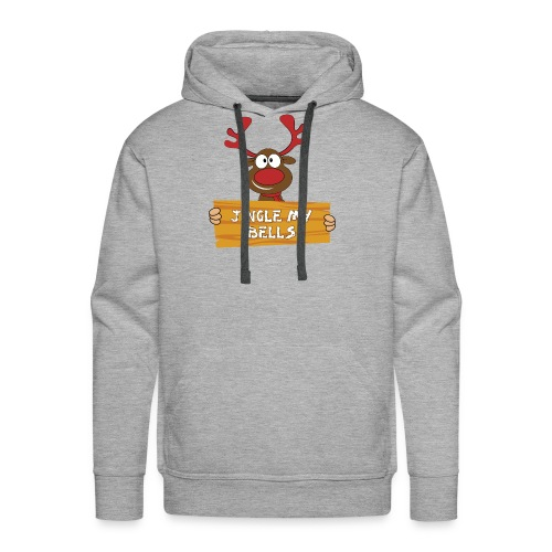 Red Christmas Horny Reindeer 1 - Men's Premium Hoodie