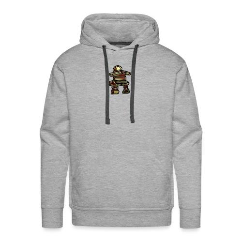 Inuksuk Totem Figure in Gold - Men's Premium Hoodie