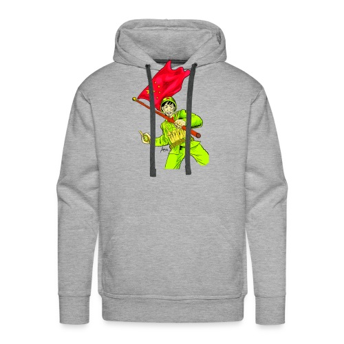 Chinese Soldier With Grenade - Men's Premium Hoodie