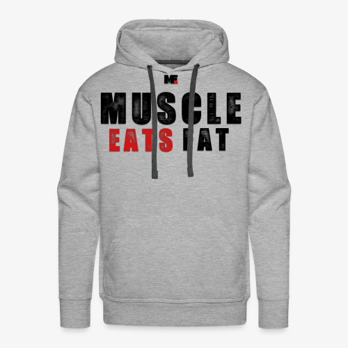 Muscle Eats Fat (Black & Red) - Men's Premium Hoodie