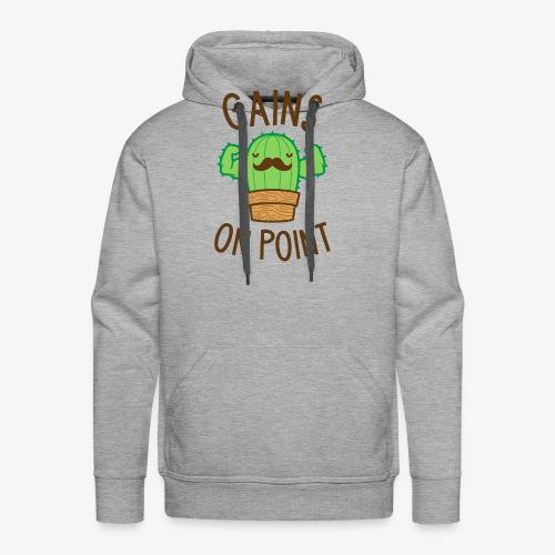 Gains On Point (Cactus Pun) - Men's Premium Hoodie