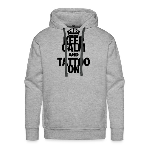 Keep Calm and Tattoo On vector - Men's Premium Hoodie