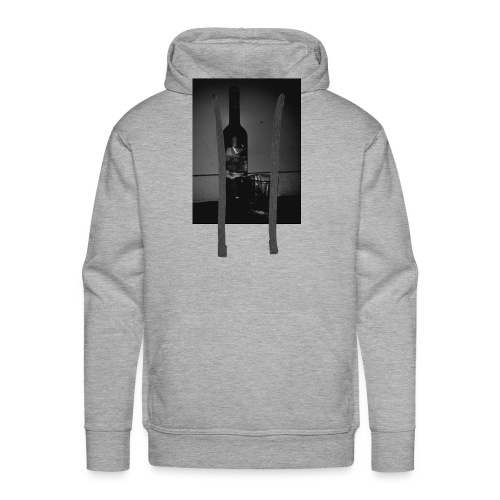 BLACK AND WHITE Grey Goose - Men's Premium Hoodie