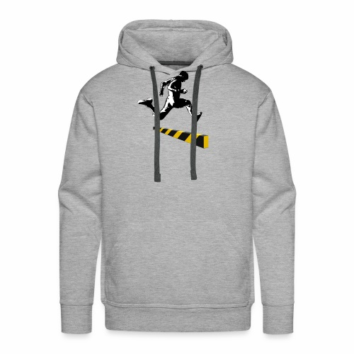 Leaping The Bounds of Caution - Men's Premium Hoodie