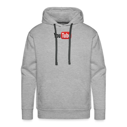YouTube logo full color png - Men's Premium Hoodie