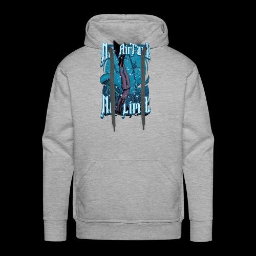 No Air Tank No Limit Freediving merchandise - Men's Premium Hoodie