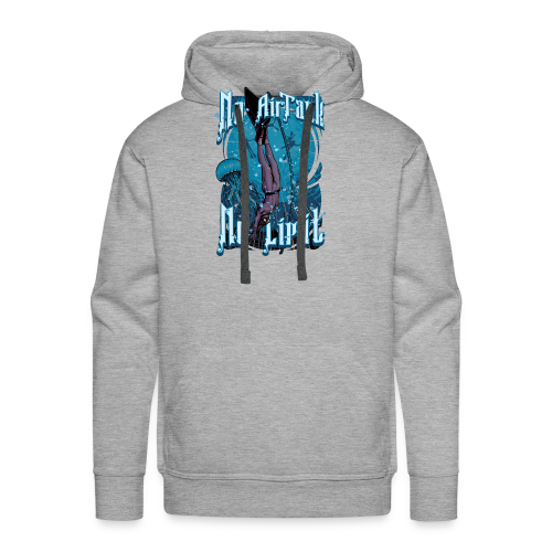 No Air Tank No Limit Freediving merchandise - Men's Premium Hoodie