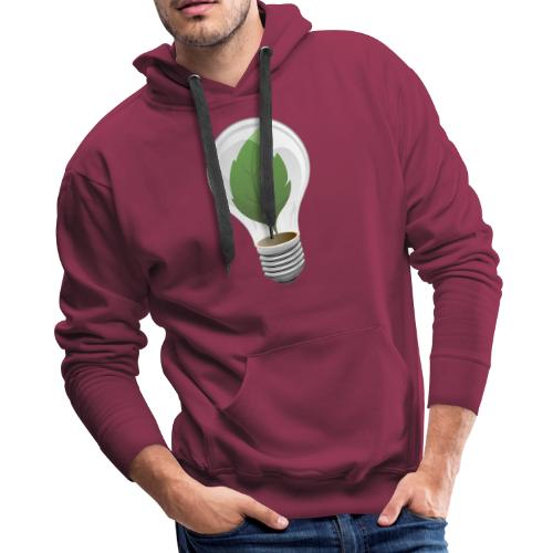Clean Energy Green Leaf Illustration - Men's Premium Hoodie