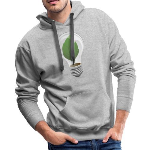 Clean Energy Green Leaf Illustration - Men's Premium Hoodie