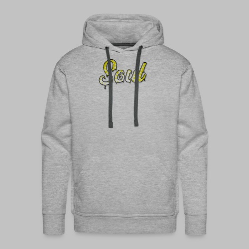 SOUL Yellow and White Halftone Gradient Logo - Men's Premium Hoodie