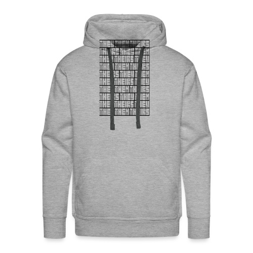 They Them Theirs (Repeating Block) - Men's Premium Hoodie