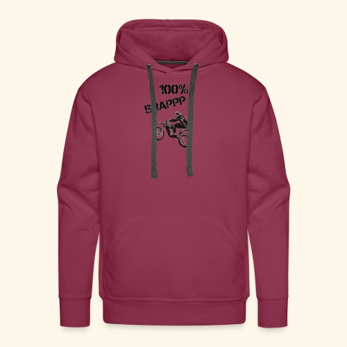 100% BRAPPP (Black and White) - Men's Premium Hoodie
