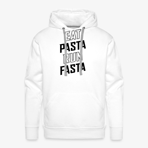 Eat Pasta Run Fasta v2 - Men's Premium Hoodie