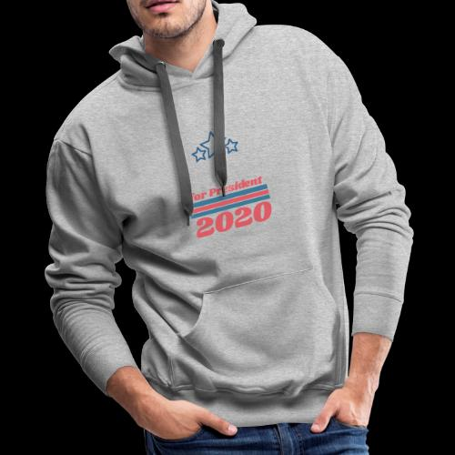 For President 2020   Add Your Own Name Text - Men's Premium Hoodie