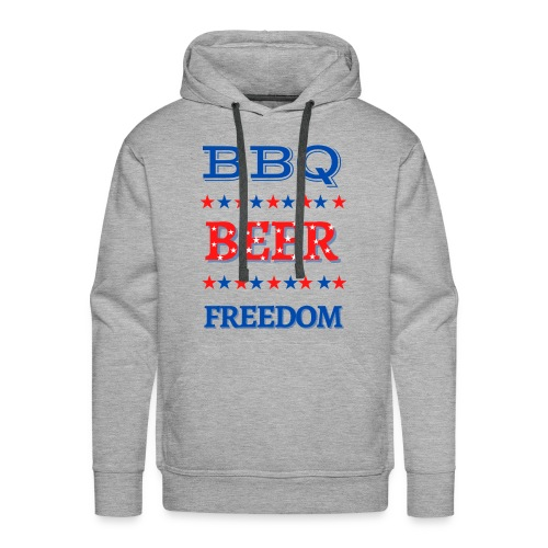 BBQ BEER FREEDOM - Men's Premium Hoodie